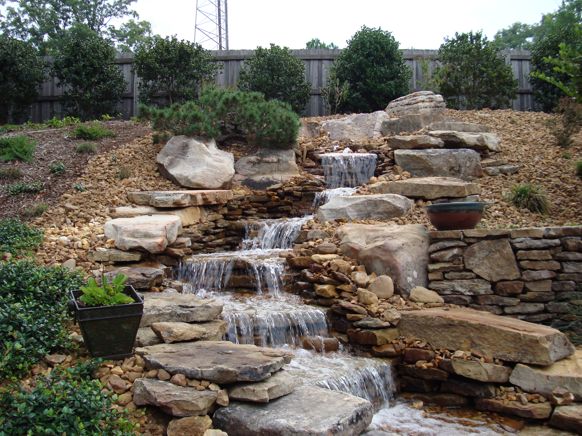 Morris nursery landscapes inc ponds pools portfolio for Building a small water feature